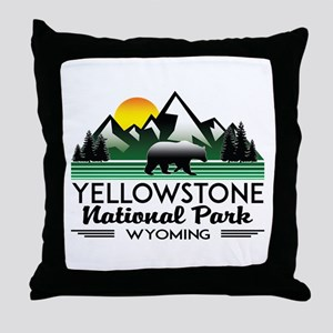 YELLOWSTONE NATIONAL PARK WYOMING MOU Throw Pillow